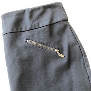 """BOGO slimming black knee length 21"""" skirt M"""
